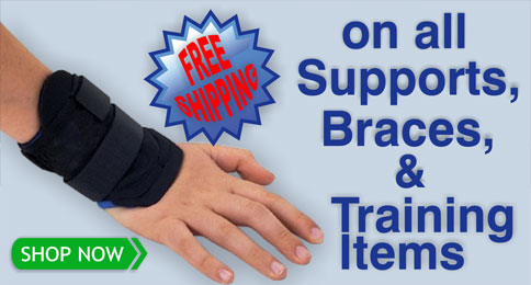 Free Shipping on all Supports, Braces and Training Items