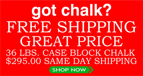 36 lbs Block Case of Chalk, $295 with Same Day Shipping