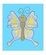 Personalized Aqua Butterfly Panne Leo