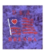 Personalized Royal Blue Love USA Panne Leo