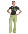 Green Spoiled Rotten Drawstring Pants