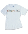 Personalized Name Tee with Alphabet in Motion Letters