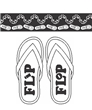 Flip Flop Shorts-Navy