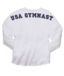 "Mens ""USA Gymnast"" White Billboard Crew Shirt"