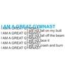 I Am A Great Gymnast Tee