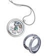 Floating Round Silver Locket Necklace