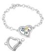 Floating Heart Silver Locket Bracelet