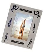 Engraved Graduation Gymnastics Silhouette Frame