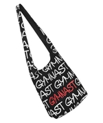Black Gymnastic Crossbody Bag