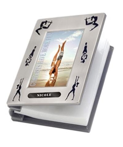 Engraved Gymnastics Silhouette Photo Album