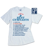 Personalized Top 10 Best Men Gymnast Tee