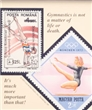 Gymnastics Stamp Art