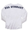 "Womens ""USA Gymnast"" White Billboard Crew Shirt FREE SHIPPING"