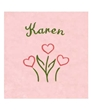 Personalized Pink Heart Flowered Panne Leo
