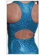 Rhinestone Split Leap Turquoise Shimmer Leo