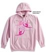 Pink Split Leap Hoody