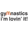 Gymnastics I'm Lovin It Tee FREE SHIPPING