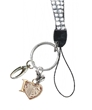 Crystal Rhinestone Lanyard with Love Gymnastics Charm