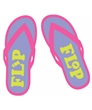 Green and Pink Flip Flop Tee