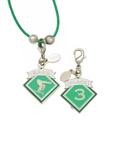 3rd Place Bars Charm & Cord Necklace