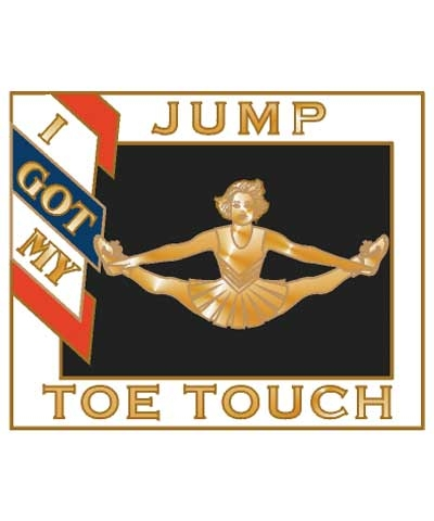 Cheerleader Jump Toe Touch Pin
