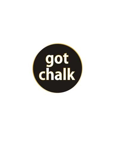 Got Chalk (Gold Base) Floating Charm