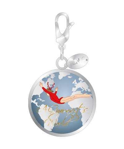 Gymnasts World Ball Charm
