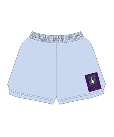 Baby Blue Like A Girl Beam Shorts FREE SHIPPING