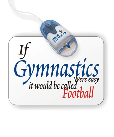 Gymnastics Easy Football Mouse Pad