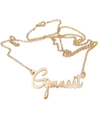 Script Gymnast Necklace