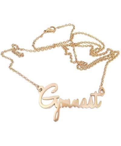 Script Gymnast Necklace