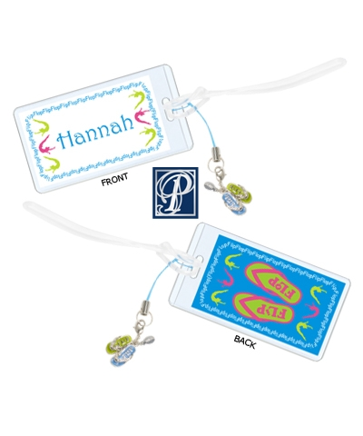 Personalized Flip Flop Luggage Tag