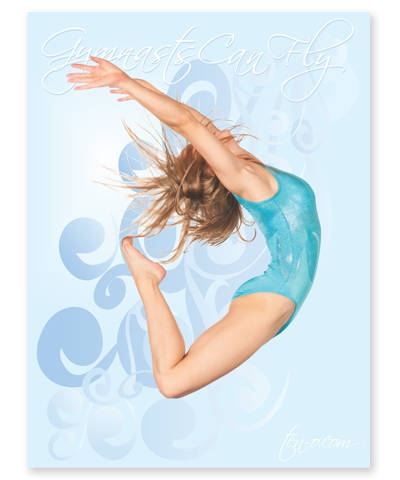 Gymnast Can Fly Poster