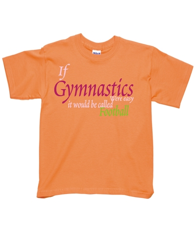 Tangerine Gym Football Tee FREE SHIPPING