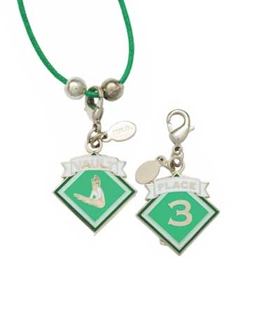 3rd Place Vault Charm & Cord Necklace