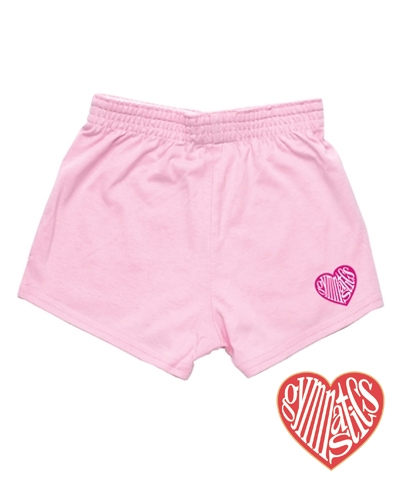 Baby Shell Pink Love Gymnastics Shorts FREE SHIPPING