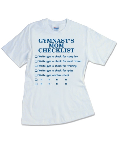 Gymnast's Mom Checklist Tee