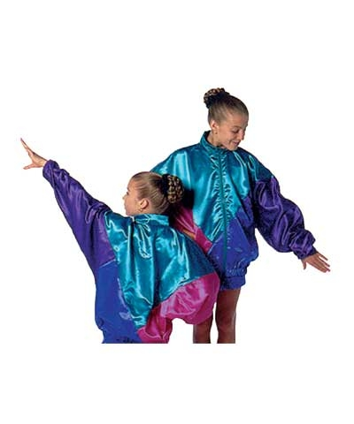 Satin T-Jacket Warmup-Royal/Purple/Teal/Fuchsia
