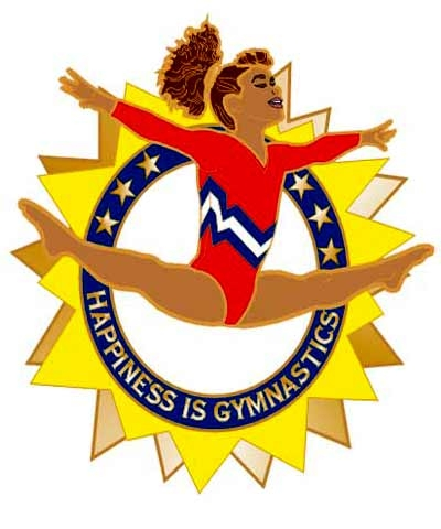 Happiness Is Gymnastics Pin