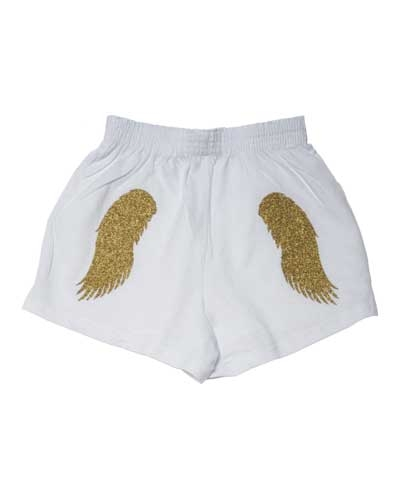White Angel Wings Shorts