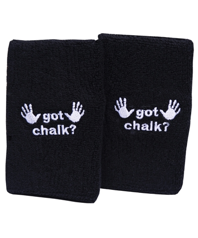 Embroidered Got Chalk Wristbands FREE SHIPPING