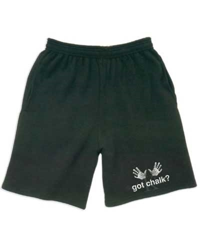 Boys Got Chalk Black Workout Shorts FREE SHIPPING