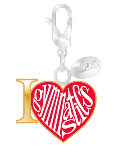Gym Charm - I Love (Heart) Gymnastics