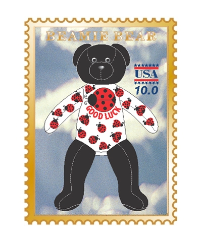 Lady Bug Beamie Bear Pin