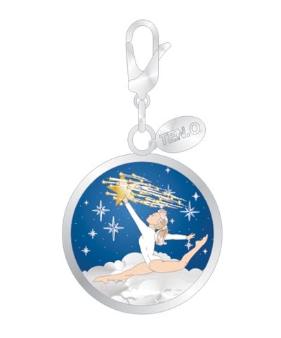 Starry Night Split Leap Ball Charm