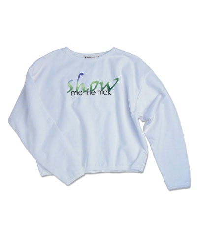 Show Me The Trick Crop Sweatshirt