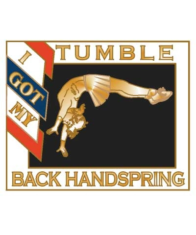 Cheerleader I Got My Back Handspring Tumble Pin