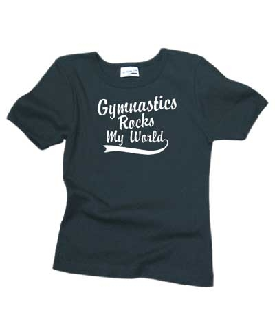 Gymnastics Rocks My World Tee FREE SHIPPING
