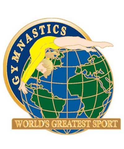 Gymnastics World's Greatest Sport Pin