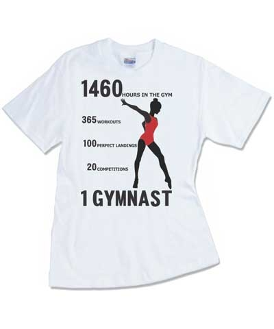 """1 Gymnast"" White Tee FREE SHIPPING"